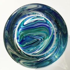 Blown Glass Bowl - Blue/Green Grant Charpentier Brandonjacobs Gallery