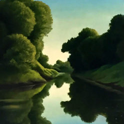 Anthony Benton Gude Thomas Hart Benton Oil Landscape Brandon Jacobs Gallery
