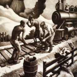 Brandon Jacobs Gallery Thomas Hart Benton Lithograph regionalist landscapes