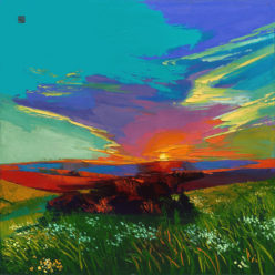 Allan Chow Oil Landscape Impasto Kansas City Brandon Jacobs Gallery